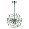 Starburst 9 Light Chandelier In Polished Chrome And Crystal