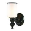 ELK lighting Bristol Way 1 Light Vanity In Oil Rubbed Bronze And Opal White Glass