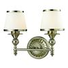 Smithfield 2 Light Vanity In Brushed Nickel And Opal White Glass