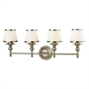 ELK lighting Smithfield 4 Light Vanity In Brushed Nickel And Opal White Glass