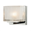 ELK lighting Chiseled Glass 1 Light Vanity In Polished Chrome