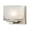 Chiseled Glass 1 Light Vanity In Brushed Nickel