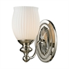 Park Ridge 1 Light Vanity In Polished Nickel And Reeded Glass