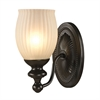 ELK lighting Park Ridge 1 Light Vanity In Oil Rubbed Bronze And Reeded Glass