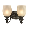 ELK lighting Park Ridge 2 Light Vanity In Oil Rubbed Bronze And Reeded Glass