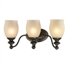 ELK lighting Park Ridge 3 Light Vanity In Oil Rubbed Bronze And Reeded Glass