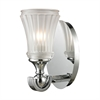 Jayden 1 Light Vanity In Polished Chrome And Frosted Glass