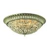 ELK lighting Andalusia 8 Light Flush Mount In Aged Silver
