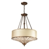 Crystal Spring 4 Light Pendant In Spanish Bronze