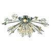 ELK lighting Starburst 8 Light Semi Flush In Polished Chrome