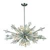 ELK lighting Starburst 24 Light Chandelier In Polished Chrome