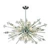 ELK lighting Starburst 29 Light Chandelier In Polished Chrome