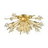 Starburst 8 Light Semi Flush In Polished Gold