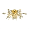Starburst 12 Light Semi Flush In Polished Gold