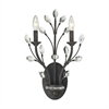 Crystal Branches 2 Light Wall Sconce In Burnt Bronze