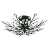 ELK lighting Crystal Branches 6 Light Semi Flush In Burnt Bronze
