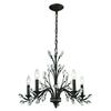 Crystal Branches 5 Light Chandelier In Burnt Bronze