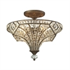 Jausten 4 Light Semi Flush In Antique Bronze