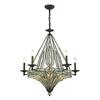 Jausten 10 Light Chandelier In Antique Bronze