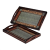 Sterling Set Of 2 Checked Trays