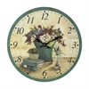 Sterling Bouquet Clock