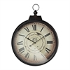 Sterling Chateau Renier Clock With Bronze Metal Frame