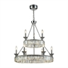 ELK lighting Manning 29 Light LED Chandelier In Polished Chrome