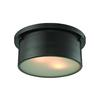 Simpson 2 Light Flushmount In Oil Rubbed Bronze