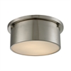 ELK lighting Simpson 2 Light Flushmount In Brushed Nickel