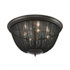 ELK lighting Pesaro 4 Light Flushmount In Oil Rubbed Bronze