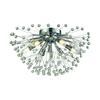 ELK lighting Starburst 6 Light Semi Flush In Polished Chrome