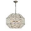 ELK lighting Constructs 8 Light Chandelier In Weathered Zinc