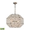 ELK lighting Constructs 8 Light LED Chandelier In Weathered Zinc