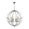Stanton 8 Light Chandelier In Weathered Zinc With Brushed Nickel Accents