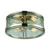 ELK lighting Coby 2 Light Flush In Polished Nickel