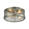 ELK lighting Coby 2 Light Flush In Brushed Nickel