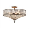 ELK lighting Paola 4 Light Semi Flush In Weathered Zinc