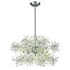 ELK lighting Snowburst 11 Light Chandelier In Polished Chrome