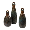 Sterling Set Of 3 School Of Fish Ceramic Jars