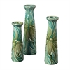 Sterling Set Of 3 Tropical Leaf Ceramic Jars