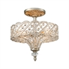 ELK lighting Cumbria 4 Light Semi Flush In Aged Silver