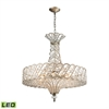 ELK lighting Cumbria 8 Light LED Chandelier In Aged Silver
