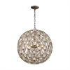 ELK lighting Evolve 8 Light Chandelier In Weathered Zinc
