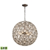 ELK lighting Evolve 8 Light LED Chandelier In Weathered Zinc