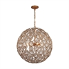 ELK lighting Evolve 8 Light Chandelier In Matte Gold