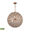 ELK lighting Evolve 8 Light LED Chandelier In Matte Gold