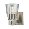Ensley 1 Light Vanity In Satin Nickel With Clear Glass