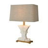Dimond Lighting Cheviot Hills Table Lamp White Alabaster,Gold Leaf