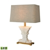 Dimond Lighting Cheviot Hills LED Table Lamp White Alabaster,Gold Leaf