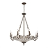 ELK lighting Christina 12 Light Chandelier In Mocha